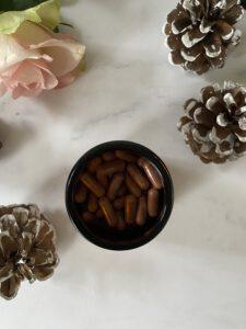 Hier zie je de supplementen van Smoothly Skincare