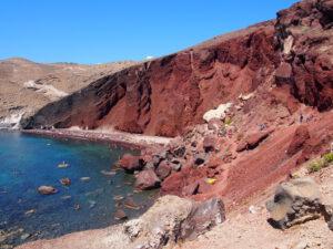 Red Beach in Santorini